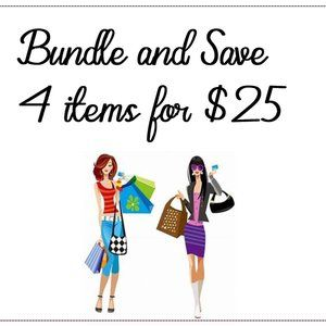 All items marked 4 for $25 are included...